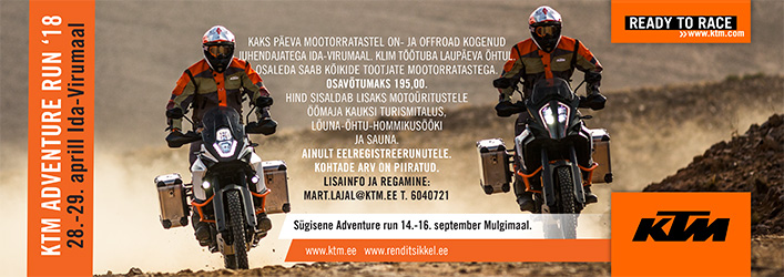 KTM Adventure Run kevad 2018